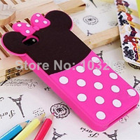 Cheap Free Shipping Cute Cartoon Doll Pattern Silicone Soft Case Cover for iPhone 5C (Assorted Color)