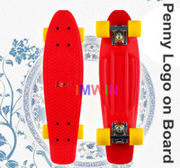 Cheap 22 inch Original Penny Logo on board 4 Wheels Skateboard Penny Nickel Penny Board Red Decks with Orange Wheels