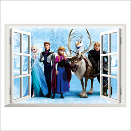 Wholesale Removable Peel Stick Frozen Decorative Window Wall Decal for Kids Baby Room Cartoon Movie Poster Wall Sticker Home Decoration Wall Art