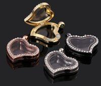 Cheap Free shipping Round magnetic cz glass floating charm locket Zinc Alloy Pendants