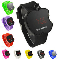 apples quartz watch - New apple LED watch silicone sport watch high quality battery digital wrist watches for women men