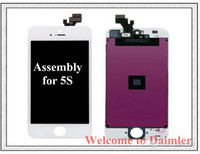 Wholesale LCD iphone S C G Screen replacement iphone S Digitizer Original Display Touch Screen Full Assembly Superior Quality Free Shipment