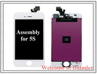 Wholesale Free DHL iphone S LCD iphone S Screen replacement iphone S Digitizer Original Display Touch Screen Full Assembly DHL Free Shipment
