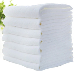 Venta al por mayor cojín del paño en Línea-Venta al por mayor - 50pcs 3 capas de fibra de bambú antibacteriano bebé pañal pañal pañal pañal inserciones pañales Liners