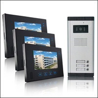 Wholesale 7 quot LCD Apartments Flats Touch Screen Panel Video Doorbell Door phone Intercom HA DB16