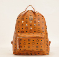 Wholesale new fashion MCM bag classic rivet elements backpack bag m