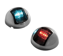 Wholesale Vessle Boat Yacht Nautical Mile LED Navigation Lights Red amp Green LED Vertical Mount Sidelights One Pair