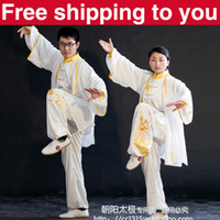 Wholesale Chinese Tai chi clothing Kung fu uniform taiji sword suit Dragon phoenix embroidery shawl women little boy girl children men