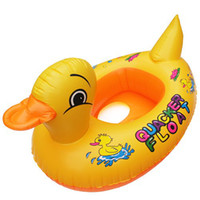Cheap New Baby Kids Swimming Swim Yellow Duck Trainer Seat Inflatable Boat Ring Pool [230405]