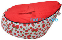 Wholesale Portable Baby Bean Bag Seat New Kids Toddler red strawberry design Beanbag Chair Bed Deluxe Authentic amp Original Dual Top
