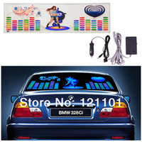Wholesale 90 CM LED Sound Music Activated EL Car Stickers Equalizer Glow Flash Panel Multi Colour Light Flashing Music Rhythm Light Lamp