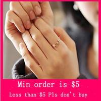 Women's band music notes - Min Order Mix Jewelry order Hot Anniversary Round Classic Women Fashion Lovely Sweet Music Notes Thread Rhinestone Ring D0231