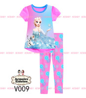 Wholesale 2014 newest boys and girls Frozen Princess Pajamas Sets Kids Autumn summer Clothing Set frozen children Casual Pyjamas many designs choose