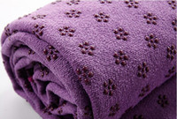 Wholesale anti skid mircrofiber yoga towel x63cm Eco friendly yoga mat piece