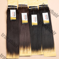 Wholesale 1PC SENSATIONAL Premium Now Hair YAKI WAVE Human Hair Mix Synthetic Hair Extension quot quot quot Color1 B Blend Hair Extensions