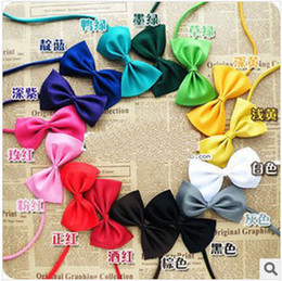 Wholesale Best Sale Children Cheap Pure Color Bow Ties New Kids Fashion Bow Ties Boy Girl Cute Hot Sale Bow Ties Children Ties