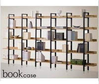 Wholesale Display cabinets display counters furnishing articles bookcase shelf steel wood bookcase bookshelf shelf
