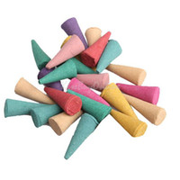 Cheap 25 Mix Stowage Colorful Fragrance Triple Scent Incense Cones Potpourri K5BO