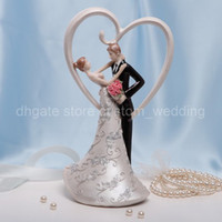 Wholesale Romantic Lovers Ceramic Wedding Cake Topper for Wedding Decoration Party Ceremony Favors Supplies