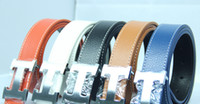 Wholesale Leather H Head Men Women Belts Gold Buckle Belt amp Silver Buckle Waistband Mixed color