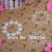 Wholesale 3 Buckles Heart Round Rhinestone Ribbon Buckles Sliders