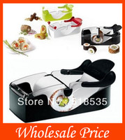 Cheap Easy Sushi Maker Roller equipment, perfect roll, Roll-Sushi with color box ,kitchen accessories,only black color 48Pcs lot