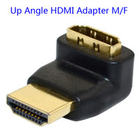 Cheap Up Angle HDMI F M Adapter Connector Converter for PC Plaza Hdtv LCD Projector ETC