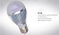 Wholesale w LED bulb Bubble Ball Bulb AC85 V E14 E27 B22 GU10 aluminium silver gold shell color warm cool white w