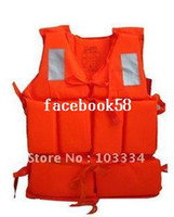 Wholesale Foam life vest jacket fishing inflatable boat swimming life saving vest with rescue Whistle For Adult child children water sport