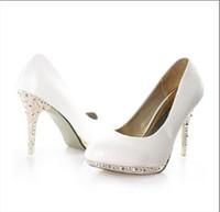 Women Pumps Stiletto Heel Cheap Price White color Dress Shoes Women's High-Heels shoes Bride Wedding Shoes
