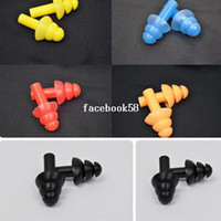 Wholesale 5 Pairs Soft Silicone Swimming Mushroom Ear Plug Waterproof Siwm Earplug