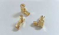 Wholesale NEW gold SMA Right Angle Male to SMA Female Adapter connector