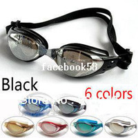 Wholesale Adult Swimming Goggles Swim Glasses Water Sportswear Anti Fog Uv protected Waterproof Adjustable Nose Black DL603 CLEACCO