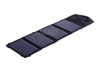 Wholesale Camping Waterproof Solar Charger W Portable Folding Solar Panel Charger USB Output for Phones Cameras MP3 MP4 PDA with retail packag