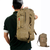 Cheap Durable Canvas Travel Backpack Mochilas For Men Dual Function Sport Handbag Shoulder Messenger Bags Bolsas Free Shipping