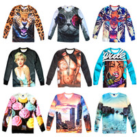 Cheap Fashion Women men print Naked tiger leopard pullovers 3d hoodies sweatshirts panda sexy monroe galaxy s top plus size