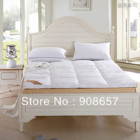 Wholesale 5CM White Thickening folding five star hotel Duck Down Mattress Topper cotton fabric duck down filling quilted mattress