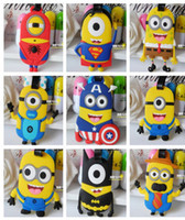Wholesale Spider Man Captain America little yellow people luggage tag Bag Parts Despicable Me Name Tag cm