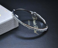 al por mayor pulseras de encaje mano-Declaración de la pulsera del brazalete de diamantes simulados, 18k rosa de encaje Brace chapado en oro de 2014 mujeres de la joyería de la cadena de la mano