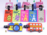 Wholesale New cute D cartoon travel luggage tag name tag cm cm