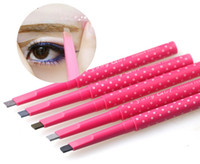 Wholesale automatic eyebrow pencils style cosmetics brow eye liner rotation makeup tools