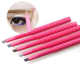 Wholesale automatic eyebrow pencils style cosmetics brow eye liner rotation makeup tools