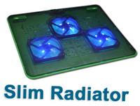 Cheap 100% New High Quality Super Slim USB Laptop Radiator 2port usb hub 3 fan Hot Sale - Green