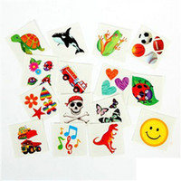 Wholesale 120PCS Tattoo stickers Kis toys Kids party favor Birthday gift Xmas toys Children cosplay supplies design cm On stock