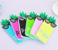 Wholesale DHL pink pineapple shell mobile phone sets for iphone5 s iphone4s cell phone cases ilicone protective shell selling in Europe and America