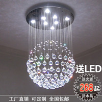 Wholesale Modern minimalist led K9 crystal chandelier stylish living room lamp bedroom lamp lights restaurant stairs hanging ball lighting