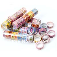 Cheap Wholesale 100 Rolls Kawaii Lovely Deco Cartoon Tape Scrapbooking Adhesive Paper Sticker New