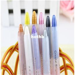 Wholesale x Fashion New Color Eyeshadow Eye Liner Illuminator Makeup Cosmetics Shimmer Pen Pencil