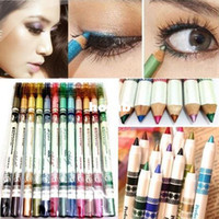 cosmetic glitter - Hot Sale Colors Glitter Lip liner Eye Shadow Eyeliner Pencil Pen Cosmetic Makeup Set Mix colors