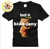 Cheap Wholesale-High Qulity Film Ted Funny cool design cute ted bear teddy summer men's Short sleeves cotton Tee T shirt male basic clothing